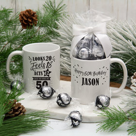 Personalized Guess that Makes me 50 11oz Mug with Lindt Truffles