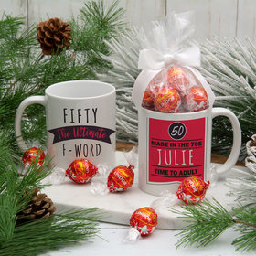 Personalized Ultimate F-Word 11oz Mug with Lindt Truffles
