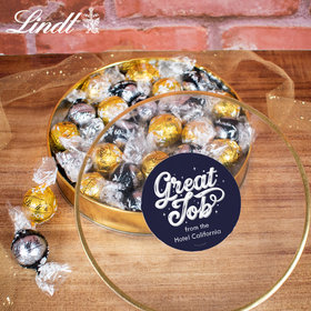 Personalized Great Job Gift Tin - Lindor Truffles by Lindt