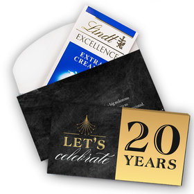 Deluxe Personalized Work Anniversary Let's Celebrate Lindt Chocolate Bar in Gift Box (3.5oz)