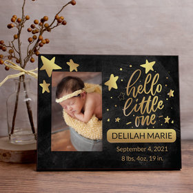 Personalized Picture Frame - Hello Little One Gold
