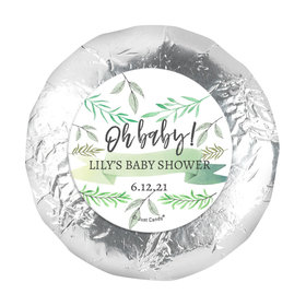 Personalized Oh Baby Baby Shower 1.25in Stickers (48 Stickers)