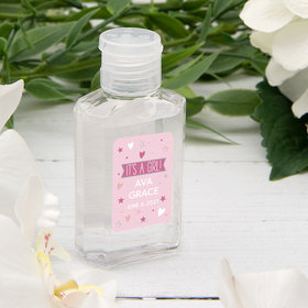 Personalized Baby Shower It's A Girl! Hand Sanitizer - 2 fl. Oz.