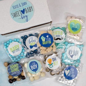 Personalized Baby Candy Care Package Gift Box - Sweet Baby Boy