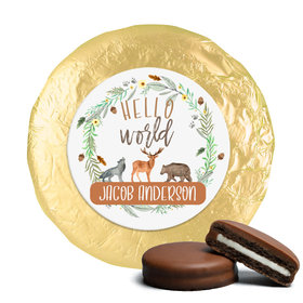 Personalized Hello World Baby Shower Milk Chocolate Covered Oreos