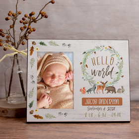 Personalized Picture Frame - Hello World