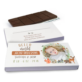 Deluxe Personalized Hello World Chocolate Bar in Gift Box (3oz Bar)