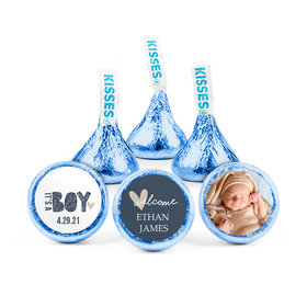 Personalized Birth Announcement It's A Boy Hershey's Kisses (50 pack)
