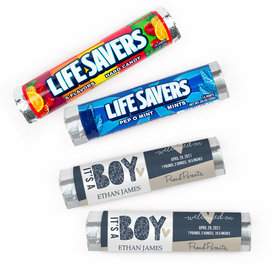 Personalized Birth Announcement It's a Boy Lifesavers Rolls (20 Rolls)