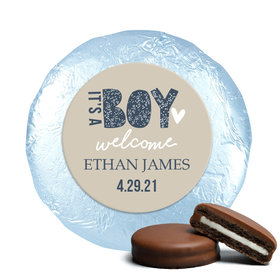 Personalized It's a Boy Birth Announcement Milk Chocolate Covered Oreos