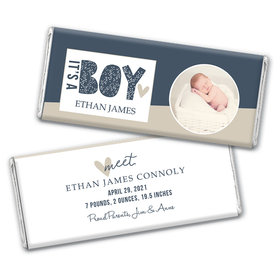 Personalized Baby Shower Welcome It's A Boy! Chocolate - Assembled