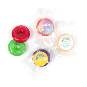 Rainbow Baby Personalized Baby Shower LifeSavers 5 Flavor Hard Candy Assembled