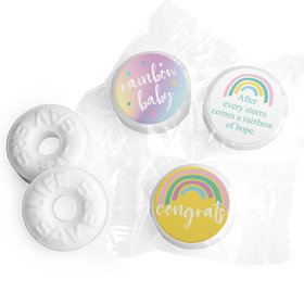 Rainbow Baby Personalized Baby Shower LIFE SAVERS Mints Assembled