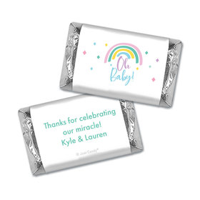 Personalized Baby Shower Rainbow Baby Miniature Wrappers
