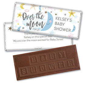 Baby Shower Personalized Embossed Chocolate Bar Over the Moon