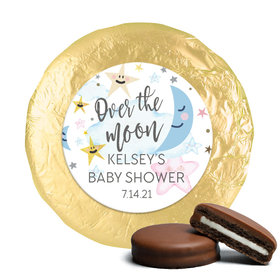 Personalized Over the Moon Baby Shower Milk Chocolate Covered Oreos