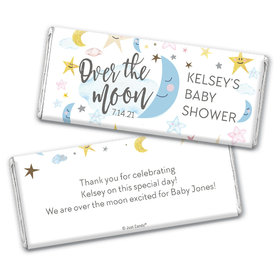 Personalized Baby Shower Over the Moon Chocolate - Assembled