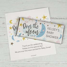 Personalized Baby Shower Over the Moon Chocolate Bar Wrappers