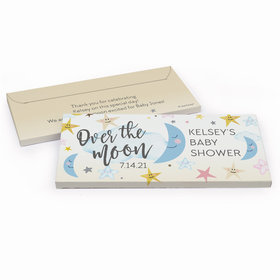 Deluxe Personalized Over the Moon Baby Shower Chocolate Bar in Gift Box