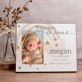 Personalized Picture Frame - Monochromatic Rainbow