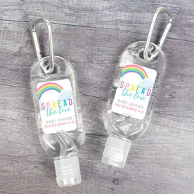 Personalized Baby Shower Spread The Love Hand Sanitizer with Carabiner - 1 fl. Oz.