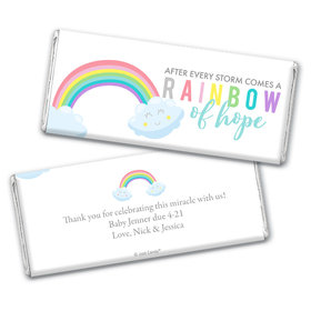Personalized Baby Shower After Every Storm comes a Rainbow Chocolate - Assembled