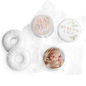 Baby Girl Personalized Baby Shower LIFE SAVERS Mints Assembled