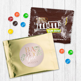 Personalized Girl Birth Announcement Baby Girl - Milk Chocolate M&Ms