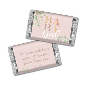 Personalized Birth Announcement Baby Girl Miniature Wrappers