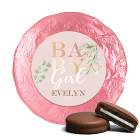 Personalized Baby Girl Birth Announcement Milk Chocolate Covered Oreos