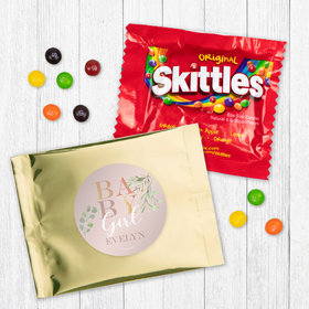 Personalized Girl Birth Announcement Baby Girl - Skittles