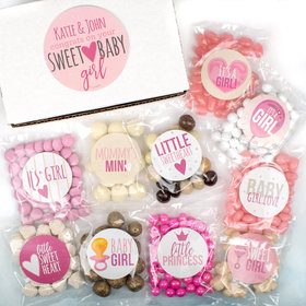 Personalized Baby Candy Care Package Gift Box - Sweet Baby Girl