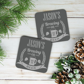Personalized Brewing Co. Cork Coaster