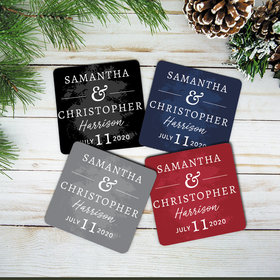 Personalized Wedding Date Neoprene Coaster (Set of 4)