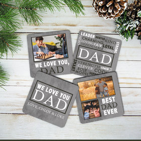 Personalized Dad Cork Coaster (Set of 4)