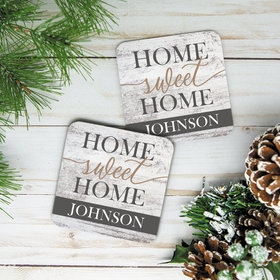 Personalized Home Sweet Home Cork Coaster