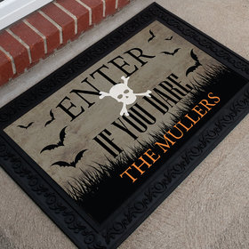Personalized Halloween Doormat Enter If You Dare