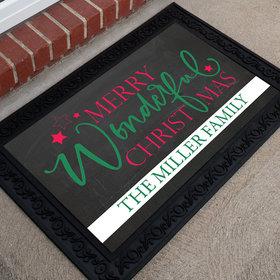 Personalized Doormat Merry Wonderful Christmas