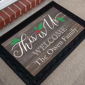 Personalized Christmas Doormat This Is Us
