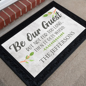 Personalized Doormat Be Our Guest