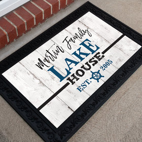 Personalized Doormat Family Lake House