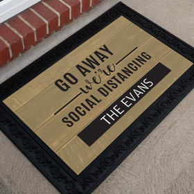 Personalized Doormat Go Away