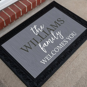 Personalized Doormat Family Welcomes You