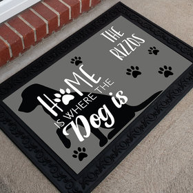 Personalized Doormat Home Is Where the Dog Is