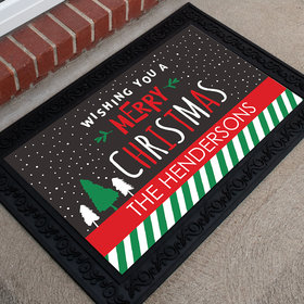 Personalized Doormat Wishing you a Merry Christmas