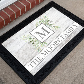 Personalized Doormat Botanical Monogram