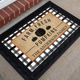 Personalized Doormat Farm Fresh Pumpkins