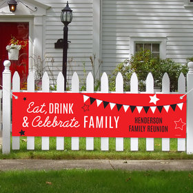 Personalized Family Reunion Banner - Eat, Drink, & Celebrate