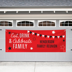 Personalized Family Reunion Garage Banner - Eat, Drink, & Celebrate
