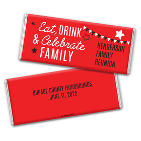 Personalized Family Reunion Eat, Drink, and Celebrate Hershey's Chocolate Bar & Wrapper